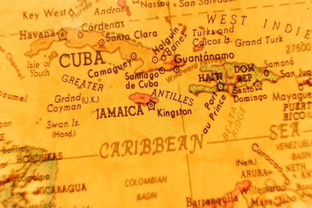 キューバの地図