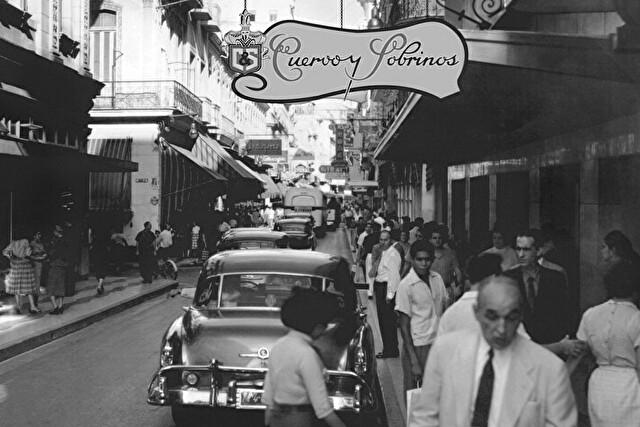 クエルボイソブリノスのショップと街並み